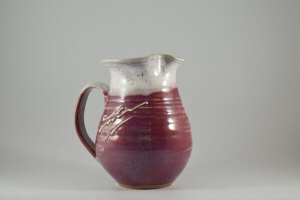 one quart pottery pitcher from pottery studio in gatlinburg tn