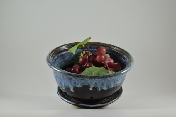 berry bowl with tray from pottery studio in gatlinburg tn