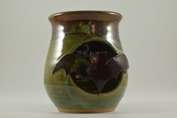 handmade bat luminary by gatlinburg pottery shop