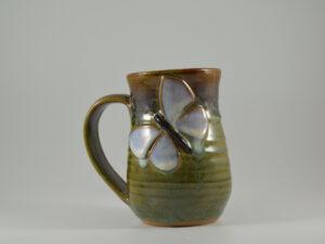 handcrafted butterfly mug from gatlinburg pottery studio