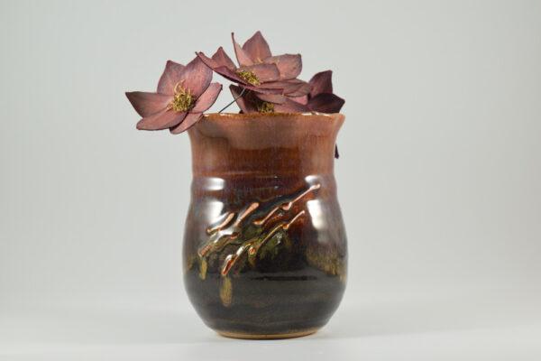 clay wall vase from gatlinburg pottery studio
