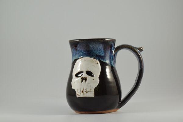 skull mug handcrafted by gatlinburg pottery studio fowlers clay works