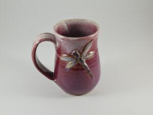 dragonfly mug from pottery studio in gatlinburg